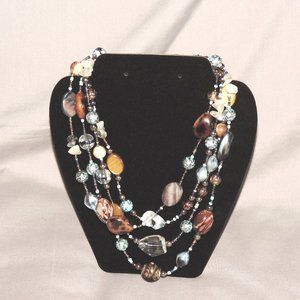 Cookie Lee 4-strand statement necklace